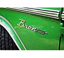 Ford Bronco Photographic Print
