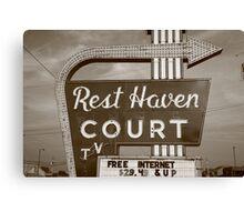 Route 66 - Rest Haven Motel Canvas Print