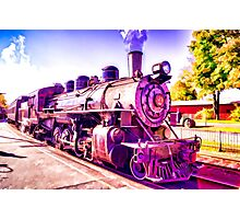 Saturated Steam Train Photographic Print