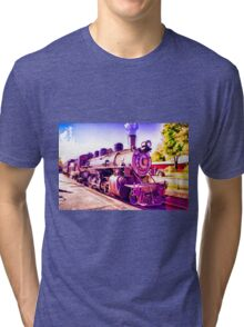 Saturated Steam Train Tri-blend T-Shirt