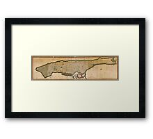 Manhattan 1811 Framed Print