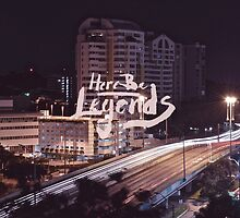 Here Be Legends - Poster by abhayaradhya
