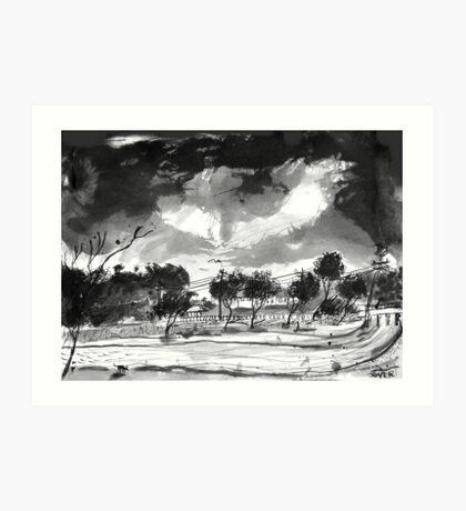 windswept inlet Art Print