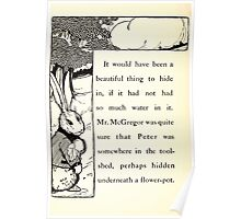 The Tale of Peter Rabbitt Beatrix Potter 1916 0040 In the Can of Water Poster