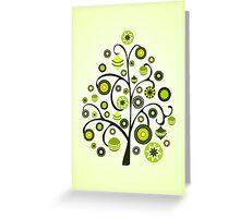 Green Ornaments Greeting Card