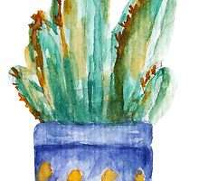 Watercolor cactus by lisenok