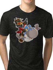 Super Jurassic Galaxy Tri-blend T-Shirt