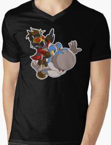 Super Jurassic Galaxy Mens V-Neck T-Shirt