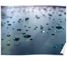 Windshield Rain Drops Poster
