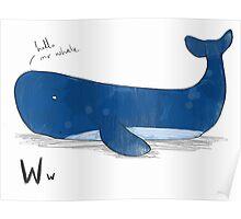"""Hello Mr Whale"" Poster"