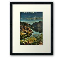 Glass Lake  Framed Print