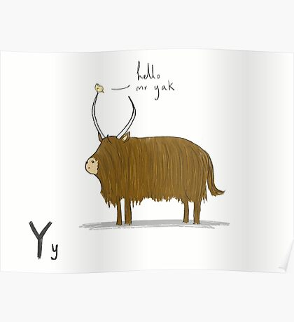 """Hello Mr Yak"" Poster"