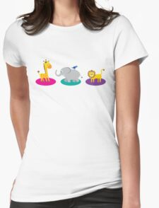 Fun Jungle Animals Womens Fitted T-Shirt