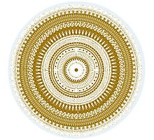 Golden Mandala Photographic Print