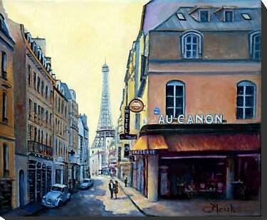 Eiffel Tower & Rue Saint Dominique Paris by marshstudio