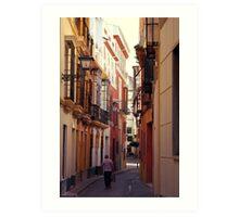 Streets of Seville - Spain  Art Print
