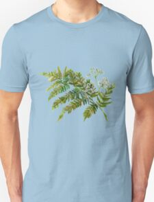 Watercolor fern and flowers T-Shirt