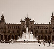 Plaza de Espana - Seville by Andrea Mazzocchetti