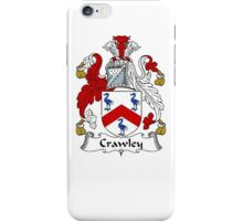 Coat of arms (family crest) for last-name or surname Crawley . Heraldry banner for your name. iPhone Case/Skin