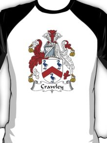 Coat of arms (family crest) for last-name or surname Crawley . Heraldry banner for your name. T-Shirt