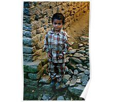 Little Boy in Pyjamas Poster