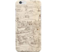 Hollywood Star Map 1937 iPhone Case/Skin