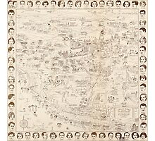 Hollywood Star Map 1937 Photographic Print