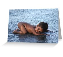 Water Baby 2 Greeting Card