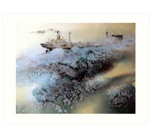 OLD TANKER OUTBOUND ... Art Print