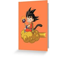 Goku's Flying Nimbus Greeting Card