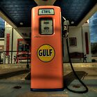 Gas Pump - Gulf Style by Terence Russell