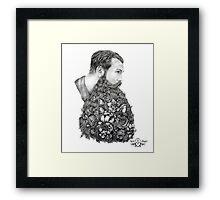 This Beard Is For You ( Beard Botanical) by April Alayne Framed Print