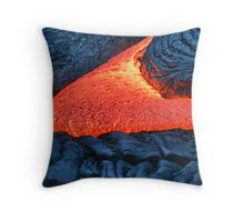 fresh lava oozing out of a crack Throw Pillow