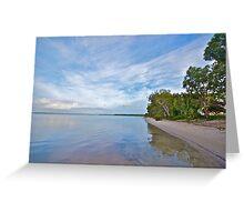 Dawn skies - Banksia Beach Greeting Card
