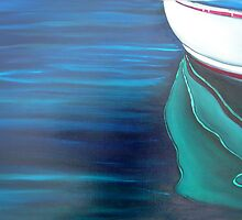 Dinghy Reflection - oil on canvas by ChristineBetts