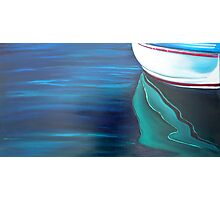 Dinghy Reflection - oil on canvas Photographic Print