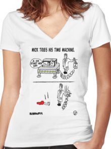 Time Machined. Women's Fitted V-Neck T-Shirt