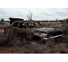 Derelict in the outback Photographic Print