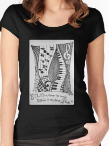 For the Love of Music Women's Fitted Scoop T-Shirt