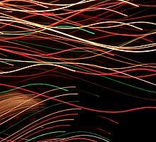 Suburb Christmas Light Series - Xmas Swim by David J. Hudson