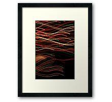 Suburb Christmas Light Series - Xmas Swim Framed Print