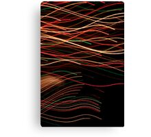 Suburb Christmas Light Series - Xmas Swim Canvas Print