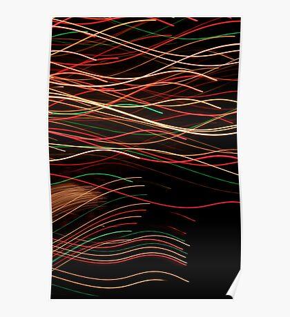 Suburb Christmas Light Series - Xmas Swim Poster