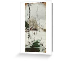 After firewood Greeting Card