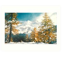 Winter in Austria Art Print