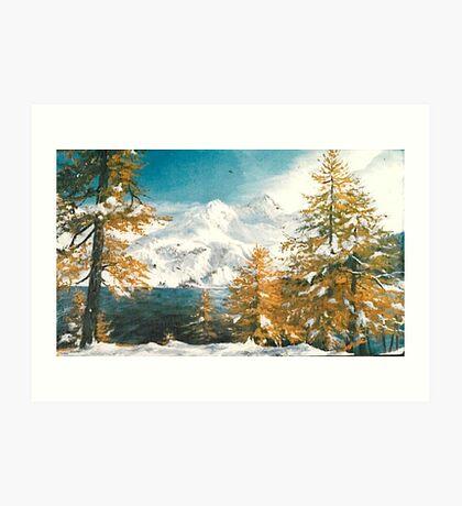 Winter in Austria Art Print