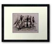 Tweedledee Tweedledum - Suspects  Framed Print