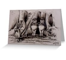 Tweedledee Tweedledum - Suspects  Greeting Card