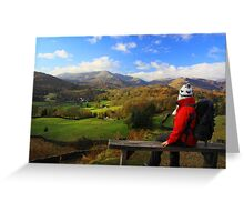 A View In The Lake District (sitting on Loughrigg) Greeting Card