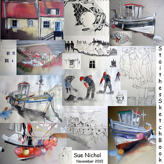 Staithes Sketchbook by Sue Nichol